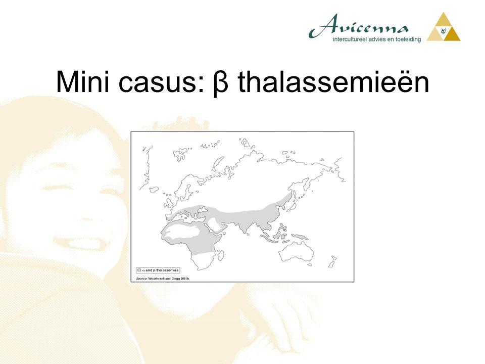 Mini casus: β thalassemieën