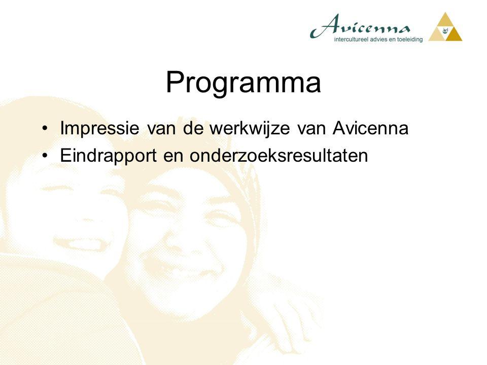 Programma Impressie van de werkwijze van Avicenna Eindrapport en onderzoeksresultaten