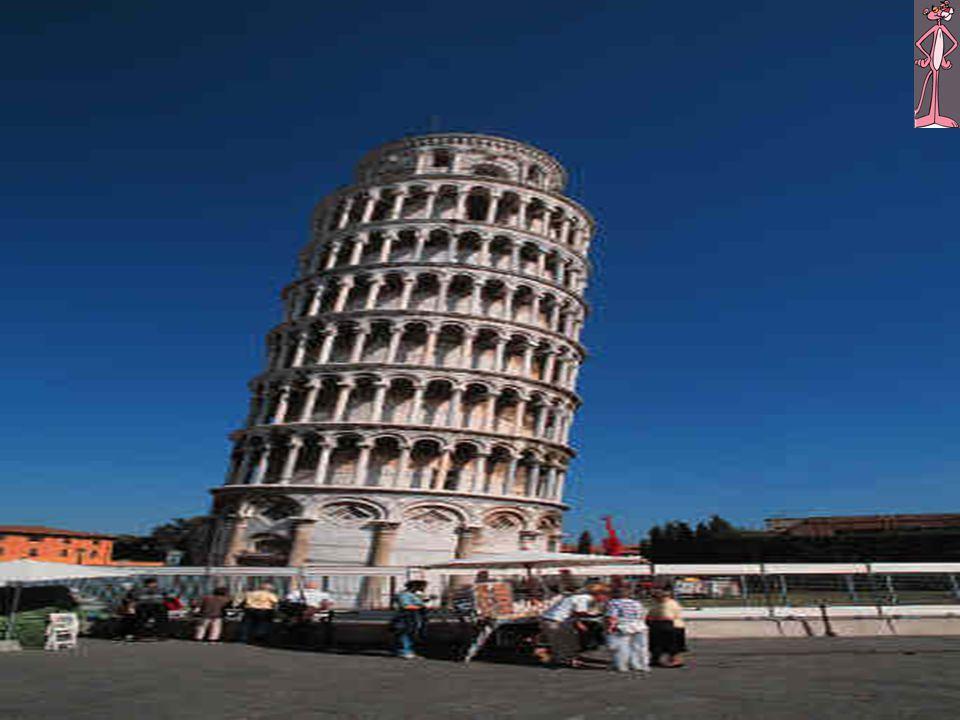 Ik sta lekker op de toren van Pisa!!!