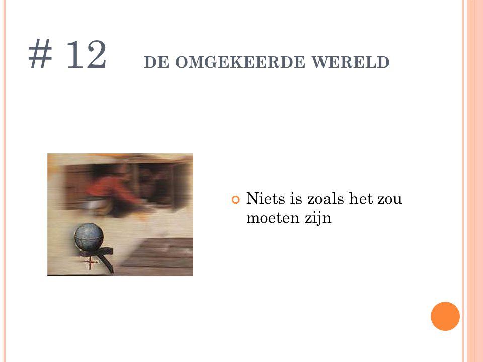 DE OMGEKEERDE WERELD Niets is zoals het zou moeten zijn # 12