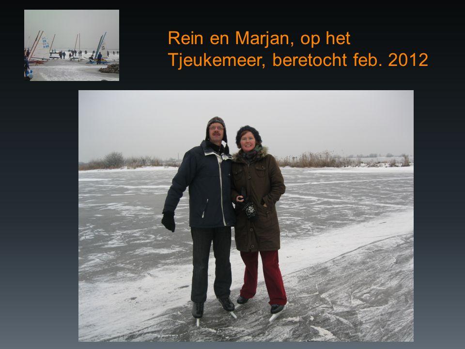 Rein en Marjan, op het Tjeukemeer, beretocht feb. 2012