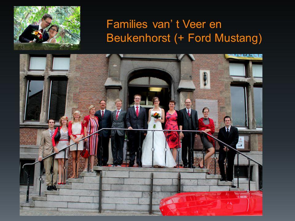 Families van' t Veer en Beukenhorst (+ Ford Mustang)