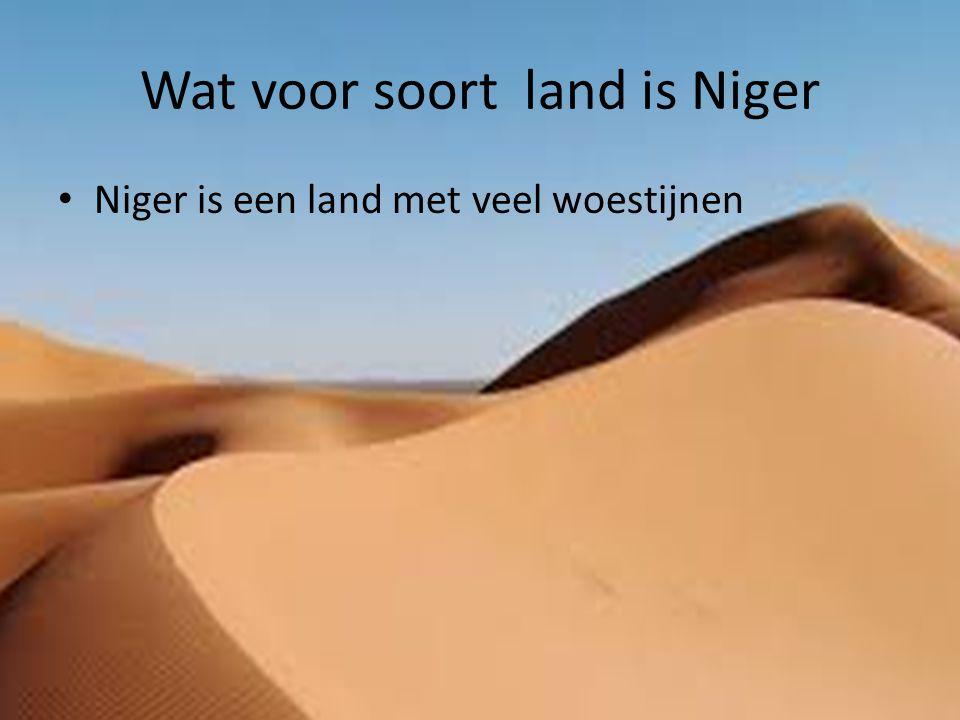 Wat voor soort land is Niger Niger is een land met veel woestijnen