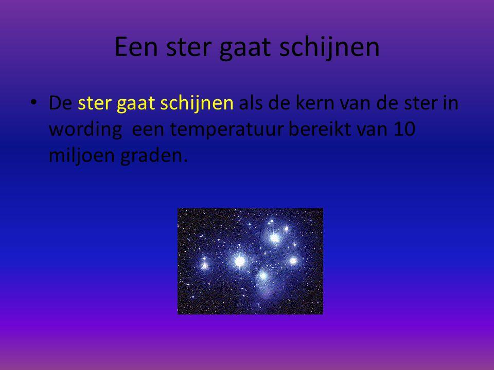 Ontstaan van een ster Delen uit het nevel worden door de zwaartekracht tot bollen gevormd de bollen draaien steeds sneller rond totdat zij uiteindelij