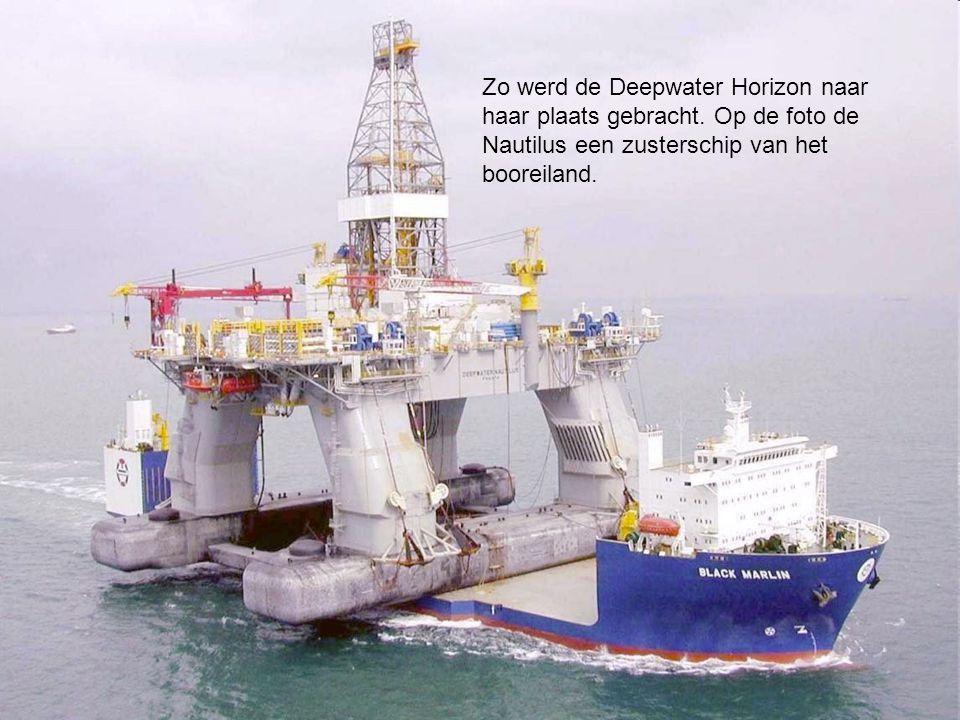 Op 21 april 2010 ontstond na een explosie brand op het booreiland Deepwater Horizon.