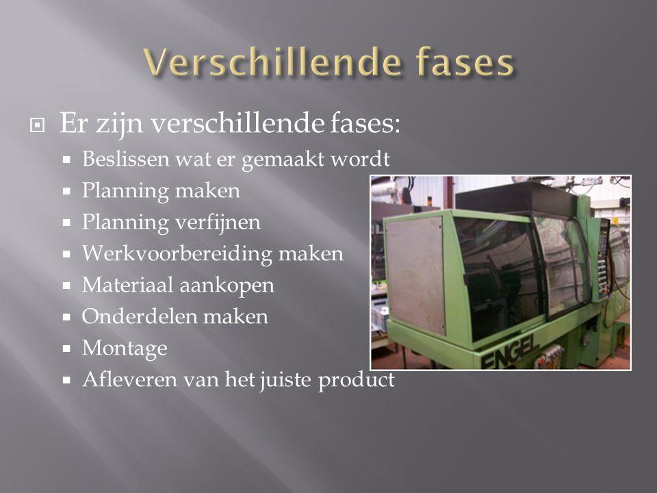 - vormgeeftechniek - thermoplasten - thermoharders - elastomeren - granulaat - viskeuze massa - holte - afkoeling - gewenste product.
