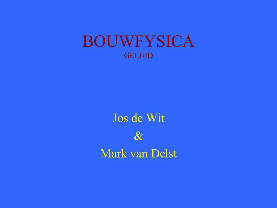 BOUWFYSICA GELUID Jos de Wit & Mark van Delst