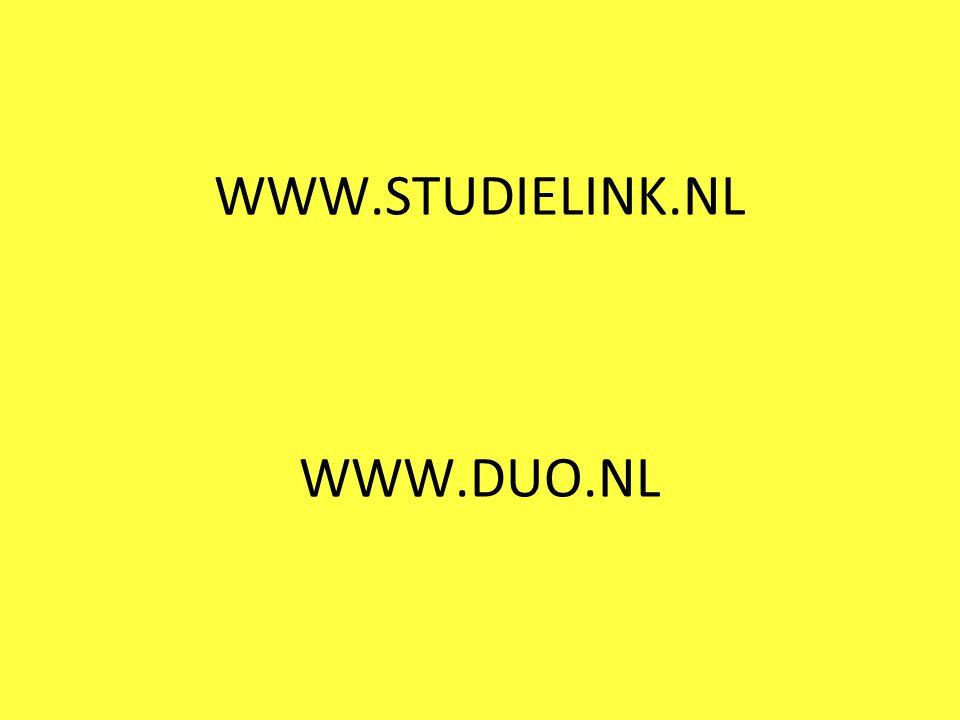 WWW.STUDIELINK.NL WWW.DUO.NL