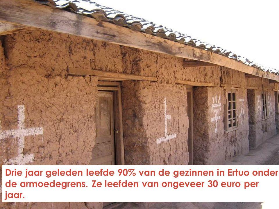 Drie jaar geleden leefde 90% van de gezinnen in Ertuo onder de armoedegrens.
