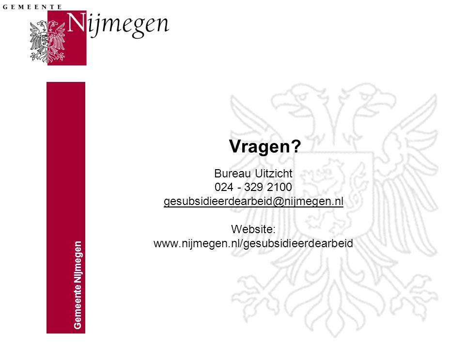 Gemeente Nijmegen Vragen.