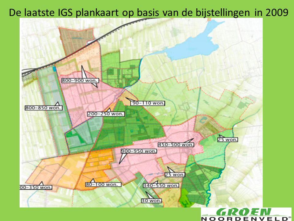De laatste IGS plankaart op basis van de bijstellingen in 2009