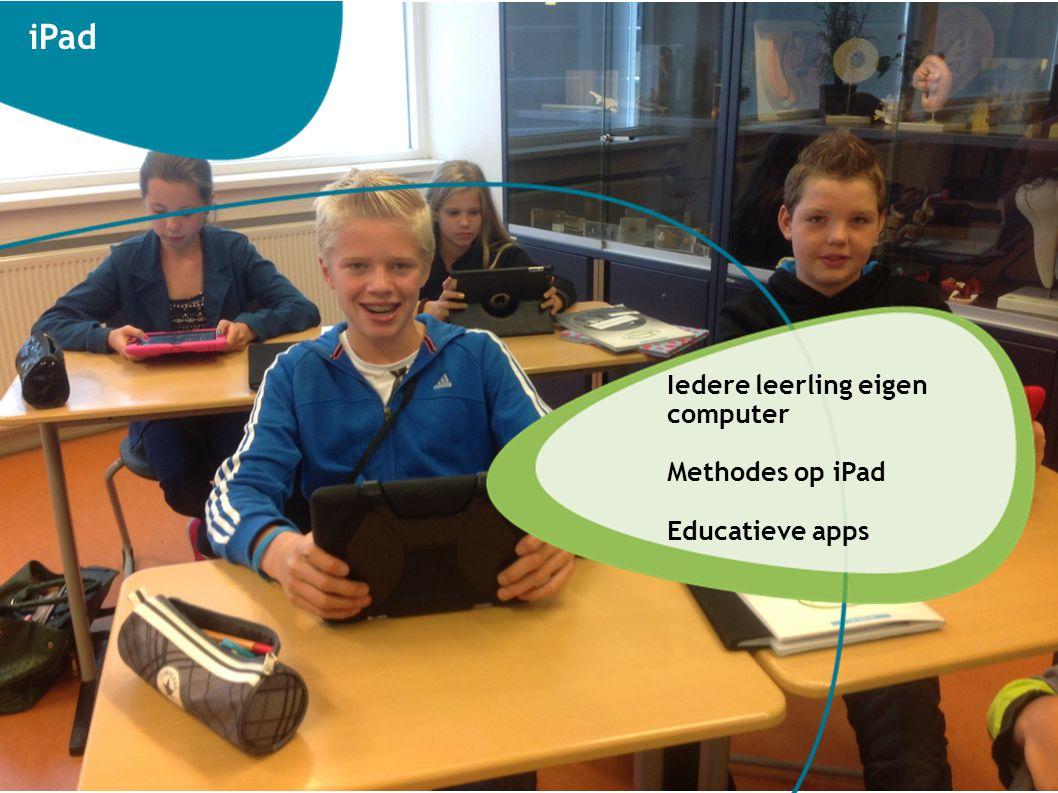 iPad Iedere leerling eigen computer Methodes op iPad Educatieve apps