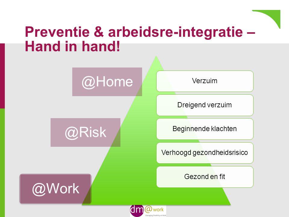Preventie & arbeidsre-integratie – Hand in hand.