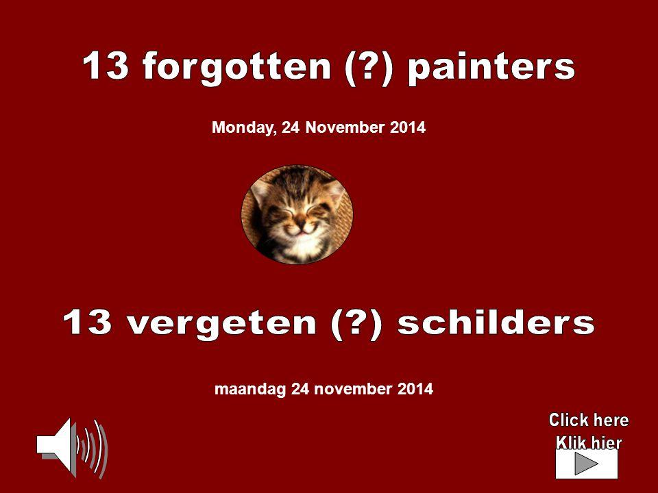 maandag 24 november 2014 Monday, 24 November 2014