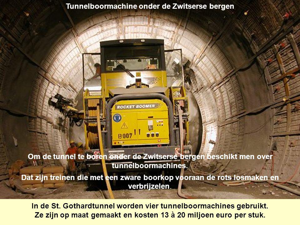 De grootste spoorwegtunnel ter wereld.De St.