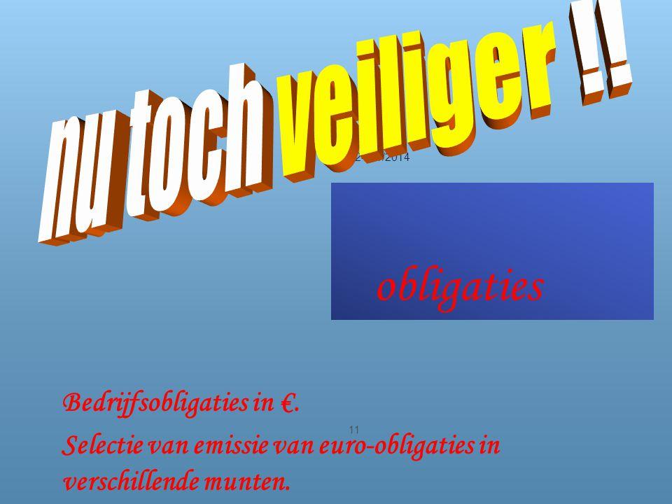obligaties 24/11/2014 11 Bedrijfsobligaties in €.
