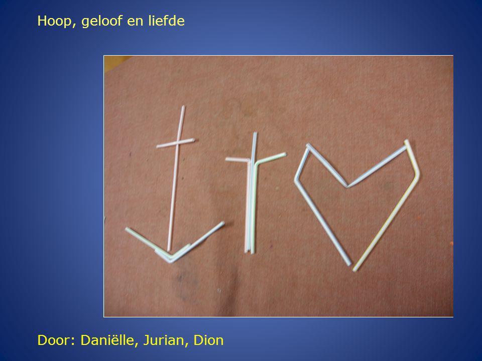 Door: Daniëlle, Jurian, Dion Hoop, geloof en liefde