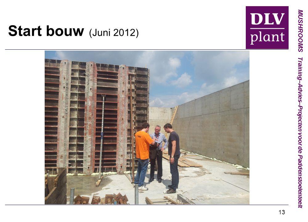MUSHROOMS Training–Advies–Projecten voor de Paddenstoelenteelt 13 Start bouw (Juni 2012)