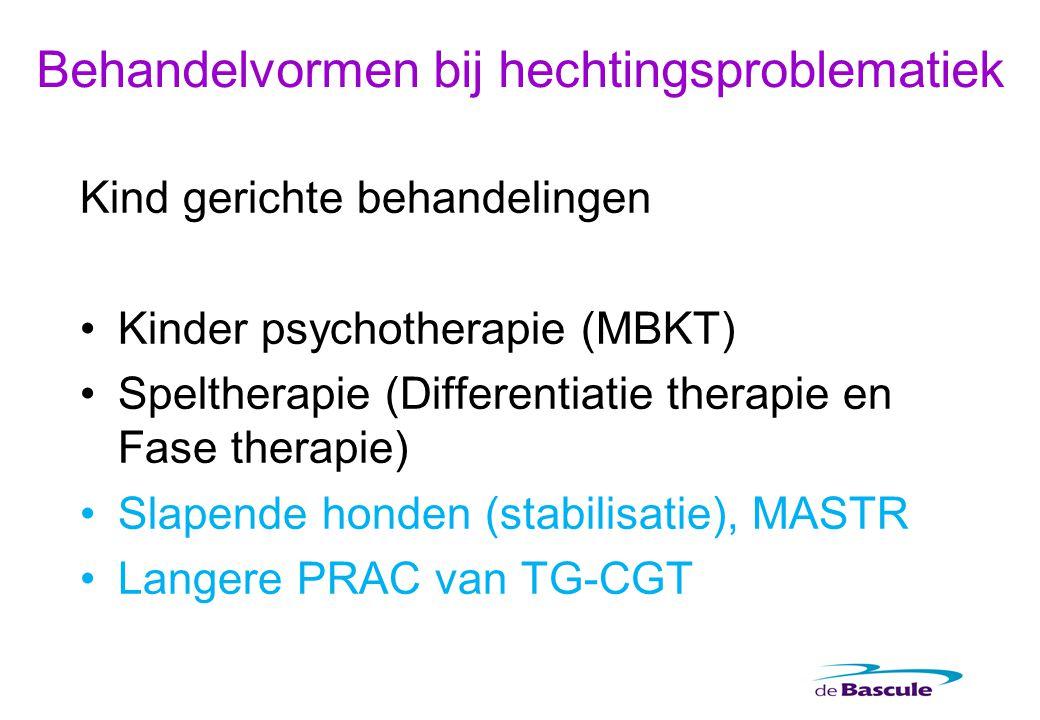 Kind gerichte behandelingen Kinder psychotherapie (MBKT) Speltherapie (Differentiatie therapie en Fase therapie) Slapende honden (stabilisatie), MASTR