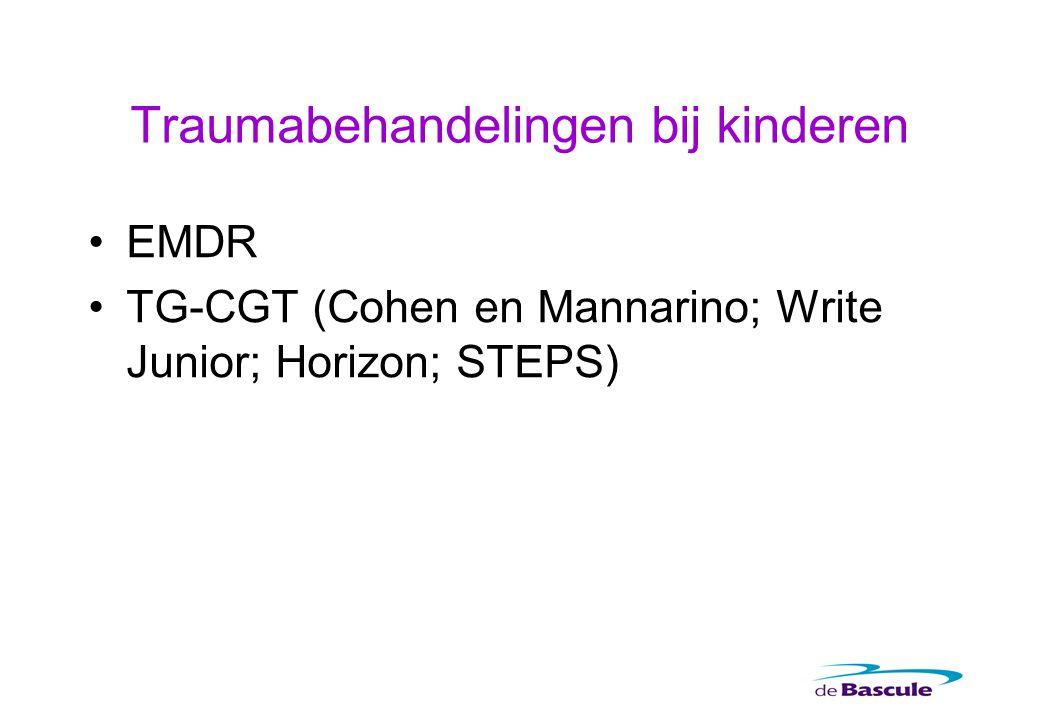 Traumabehandelingen bij kinderen EMDR TG-CGT (Cohen en Mannarino; Write Junior; Horizon; STEPS)