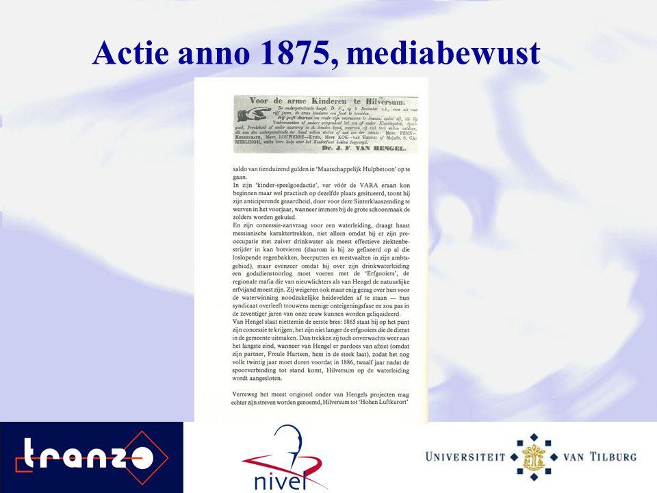 Actie anno 1875, mediabewust