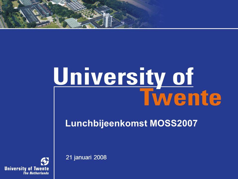 Lunchbijeenkomst MOSS2007 21 januari 2008