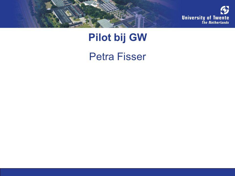 Pilot bij GW Petra Fisser