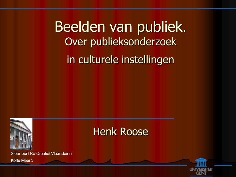 Steunpunt Re-Creatief Vlaanderen Korte Meer 3 Beelden van publiek.