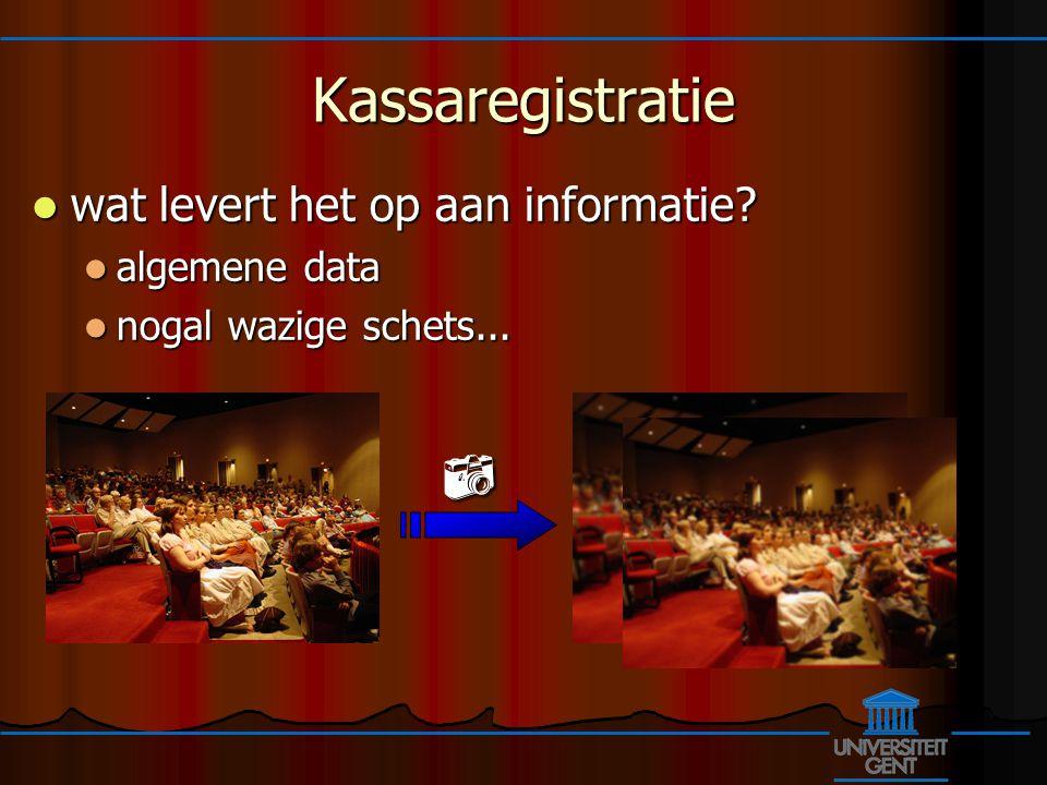 Kassaregistratie wat levert het op aan informatie.