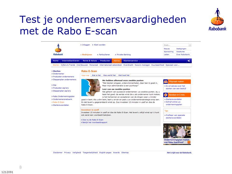 8 1212091 Test je ondernemersvaardigheden met de Rabo E-scan