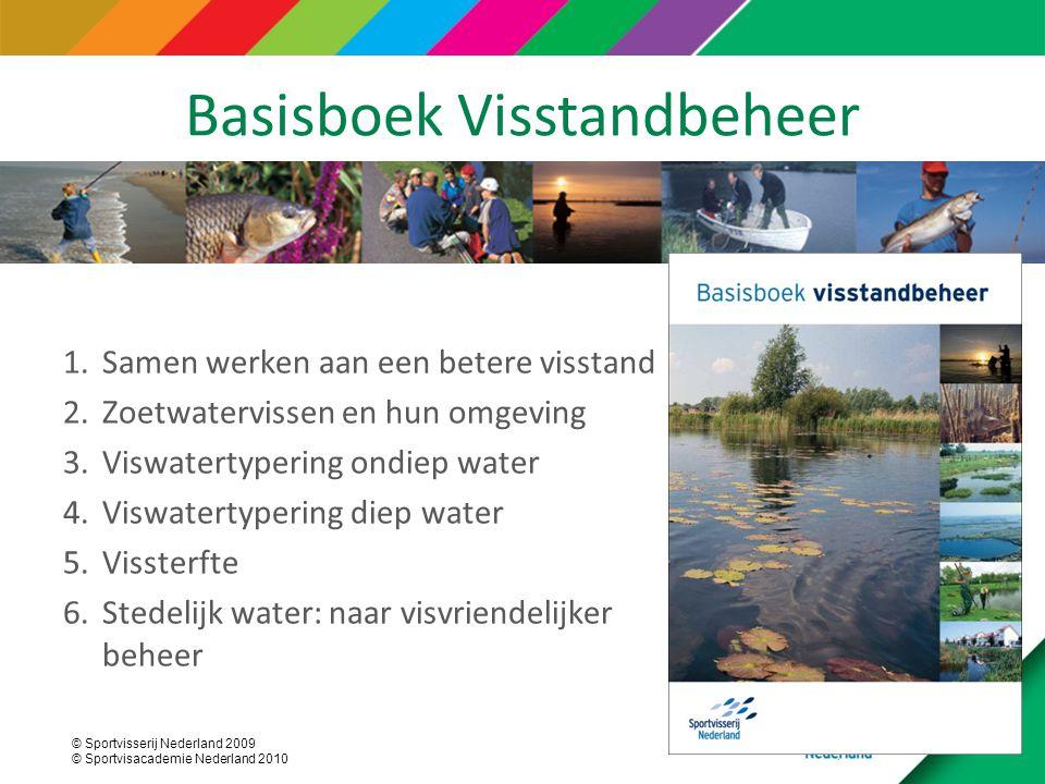 © Sportvisserij Nederland 2009 © Sportvisacademie Nederland 2010 Basisboek Visstandbeheer 1.Samen werken aan een betere visstand 2.Zoetwatervissen en