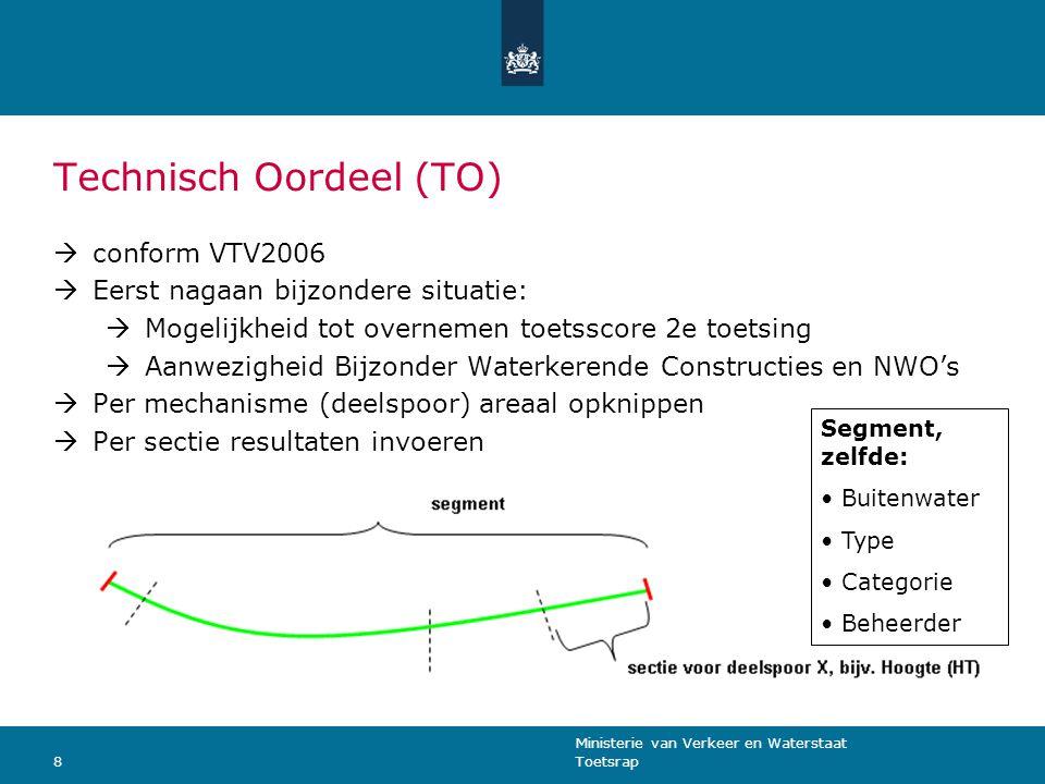 Ministerie van Verkeer en Waterstaat Toetsrap9 Schema overnemen technische score 2 e ronde