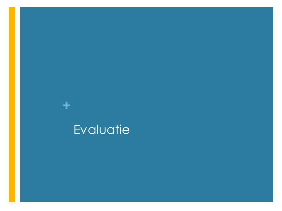 + Evaluatie