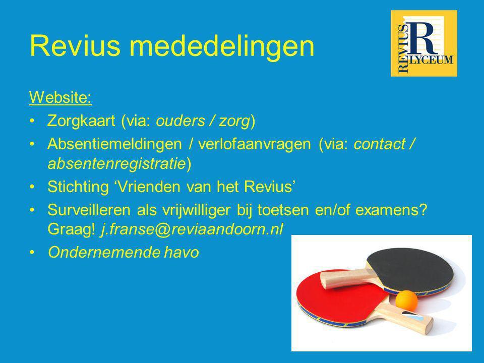 Keuzebegeleiding vanuit het decanaat voor dit schooljaar Project student in de klas van de Hogeschool Utrecht Informatiemarkt Buitenland – Buitenkans Rotary beroepenoriëntatie ReviusDoornHV.DeDecaan.net www.studiekeuze123.nl