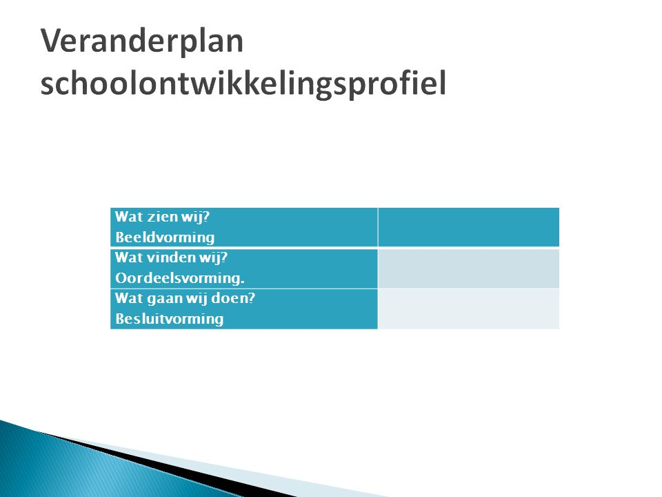 Doelstelling Activiteiten Planning Aansturing Uitvoering Begeleiding Budget Beoogd resultaat Borging Rol MR Opmerkingen