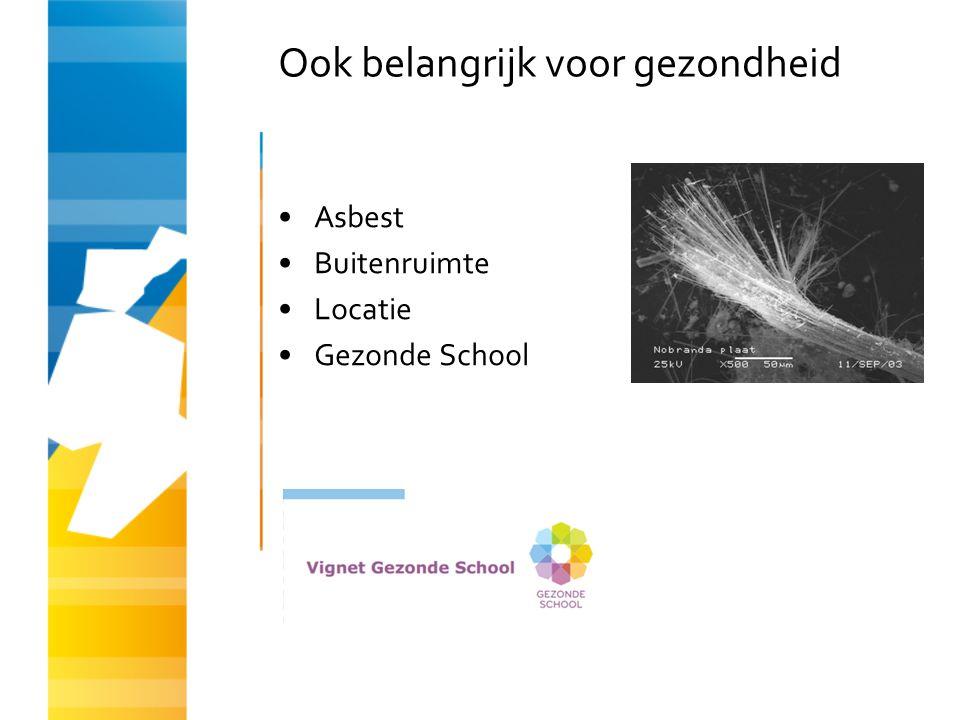 Ook belangrijk voor gezondheid Asbest Buitenruimte Locatie Gezonde School