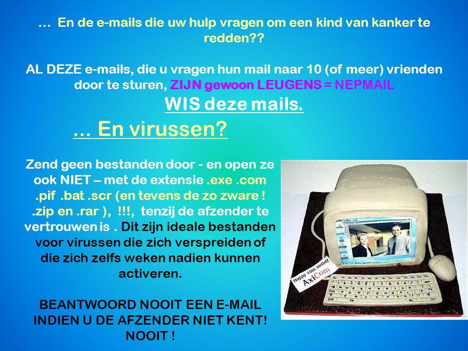 Spammers Wat is een SPAM . Per definitie zijn dit ONGEVRAAGDE berichten.