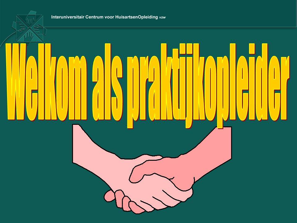 METHODISCHE PROCESBEGELEIDING: –dagelijkse patiëntenrapportering –wekelijkse casus/themabespreking –maandelijks opvolgingsgesprek (leeragenda, portfolio, evaluaties) –(kwaliteitsverbeterend) project –evaluaties over de haio schrijven