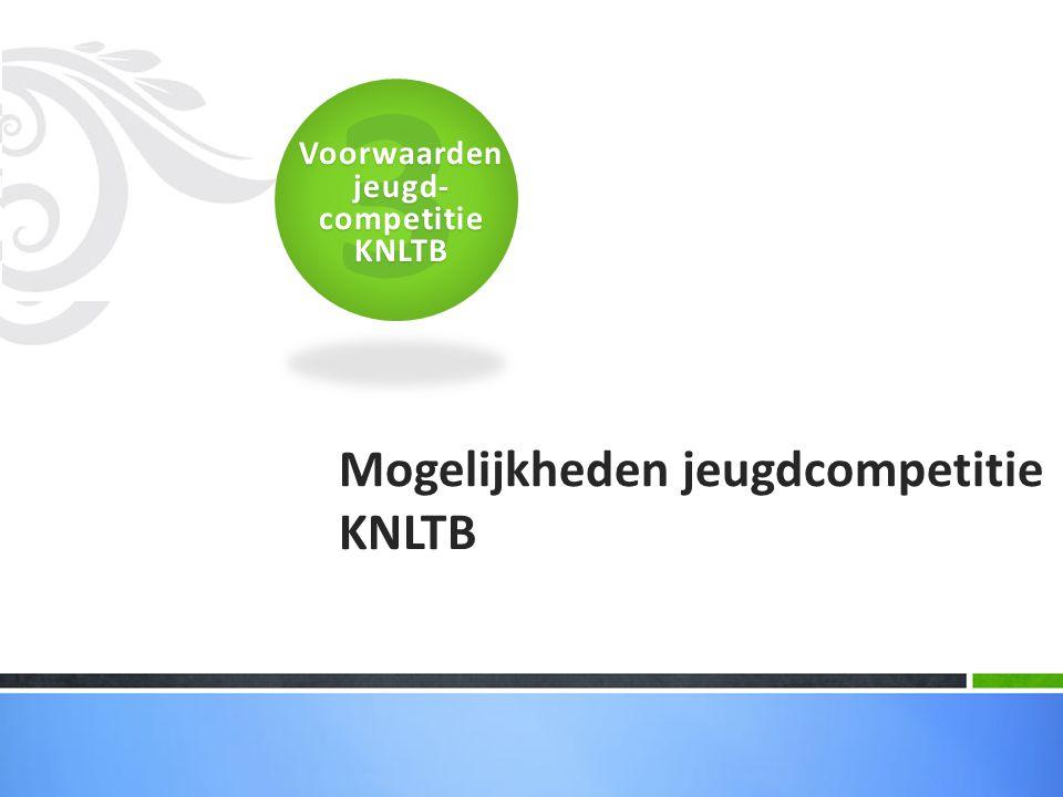 Mogelijkheden jeugdcompetitie KNLTB 3Voorwaarden jeugd- competitie KNLTB