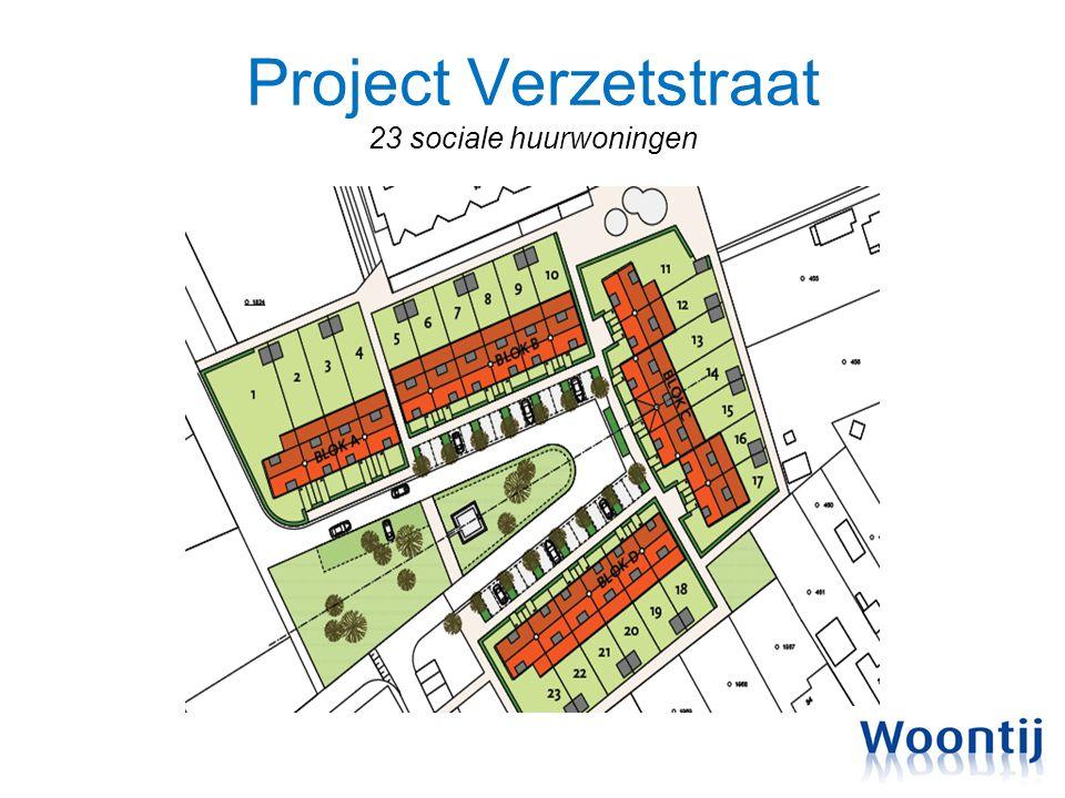 Project Verzetstraat 23 sociale huurwoningen