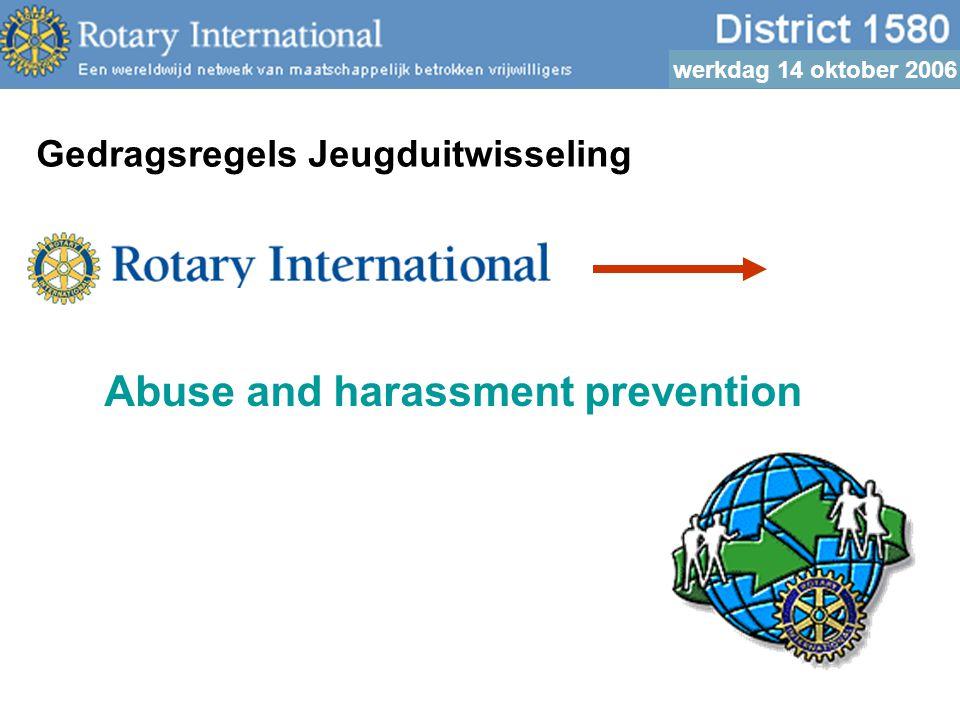 werkdag 14 oktober 2006 Waarnemingen/Praktijk: symptomen van onbehagen mogelijke herkenningspunten dreiging/misbruik versus culture shock u wordt in vertrouwen genomen, wat dan.