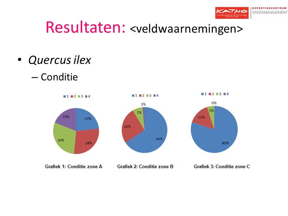 Resultaten: – Bladkwaliteit – Scheutlengte
