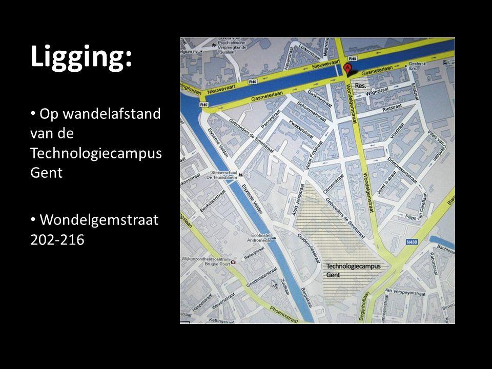 Ligging: Op wandelafstand van de Technologiecampus Gent Wondelgemstraat 202-216