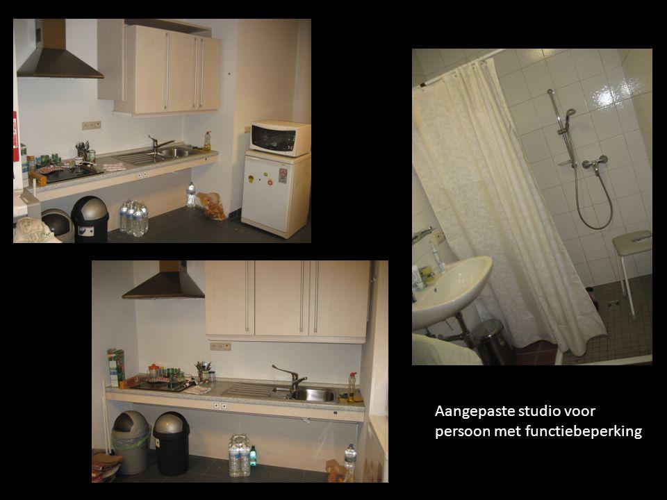 Aangepaste studio voor persoon met functiebeperking