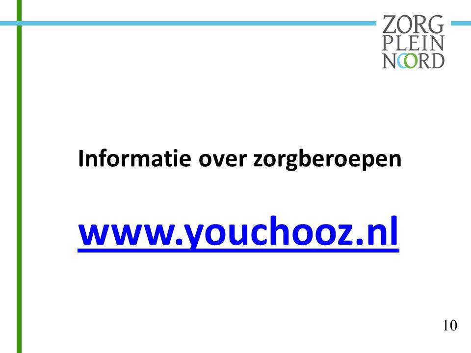 Informatie over zorgberoepen www.youchooz.nl 10