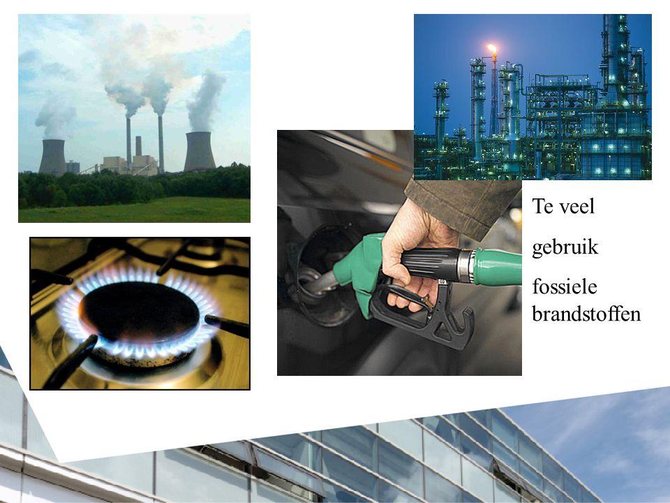 Te veel gebruik fossiele brandstoffen