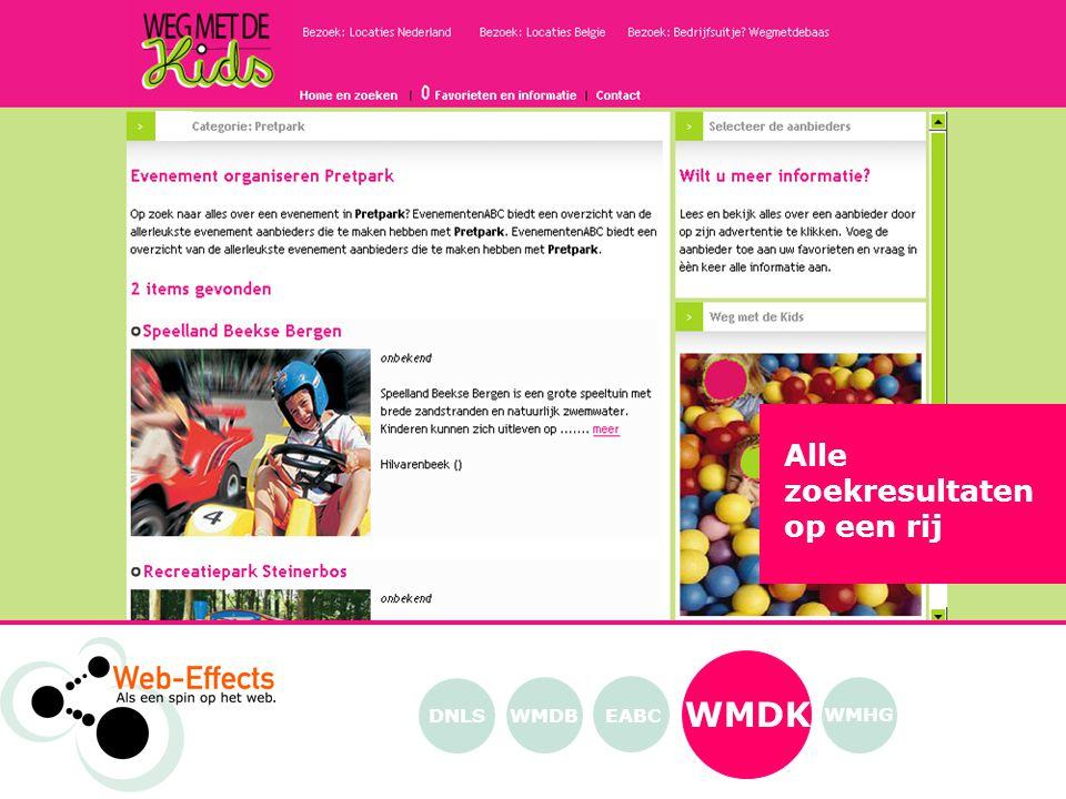 WMDK EABC WMHG WMDB Alle zoekresultaten op een rij DNLS