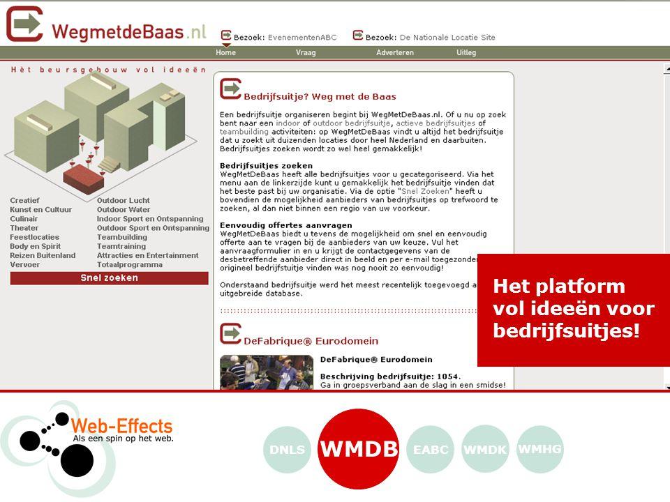 WMDK WMHG EABCDNLS Het platform vol ideeën voor bedrijfsuitjes!