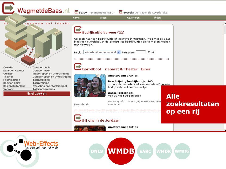 WMDB WMDK WMHG EABCDNLS Alle zoekresultaten op een rij
