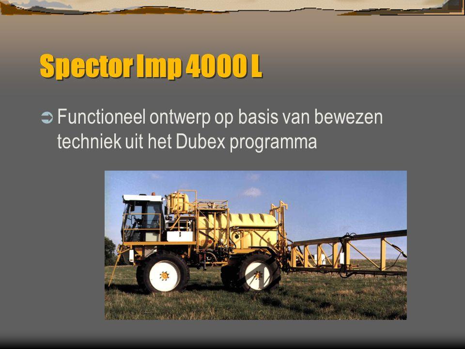 Algemene informatie  Dubex zelfrijder, een geslaagde combinatie van spuit- en voertuigtechniek  Leverbaar met motoren van 125-195 Hp  Tanks van 230